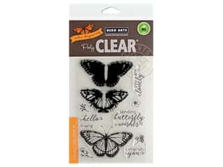scrapbooking & paper crafts: Hero Arts Poly Clear Stamp Color Layering Monarch Butterfly