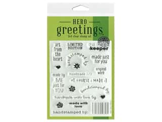 scrapbooking & paper crafts: Hero Arts Poly Clear Stamp Greetings Limited Edition