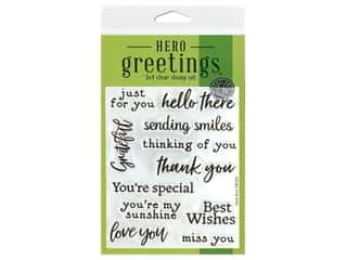 scrapbooking & paper crafts: Hero Arts Poly Clear Stamp Greeting Sending Smiles