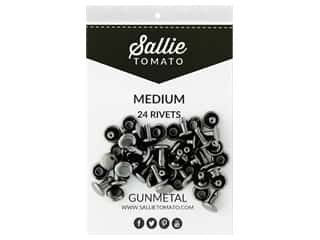 Sallie Tomato Double Cap Rivets 8 mm 24 pc Black/Gunmetal