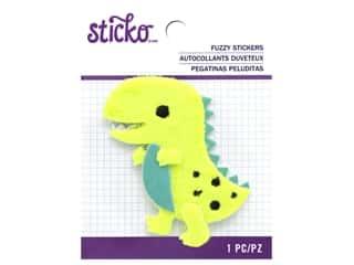 scrapbooking & paper crafts: Sticko Fuzzy Stickers - Dino