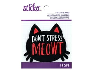 scrapbooking & paper crafts: EK Sticko Stickers Fuzzy Don't Stress