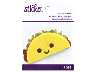 scrapbooking & paper crafts: Sticko Fuzzy Stickers - Taco