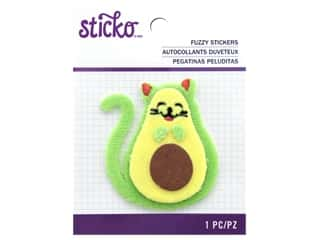 scrapbooking & paper crafts: EK Sticko Stickers Fuzzy Avo-Cat-O