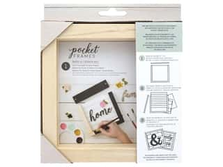 American Crafts Details 2 Enjoy Pocket Frames DIY 6 in. x 5.5 in.