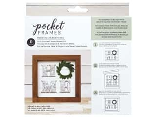 American Crafts Details 2 Enjoy Pocket Frames DIY 6 in. x 5.5 in. Home Wreath