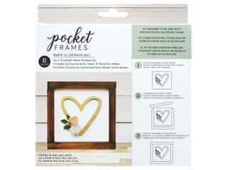 American Crafts Details 2 Enjoy Pocket Frames DIY 6 in. x 5.5 in. Heart Wreath
