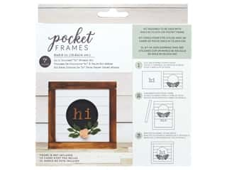 American Crafts Details 2 Enjoy Pocket Frames DIY 6 in. x 5.5 in. Hi Wreath