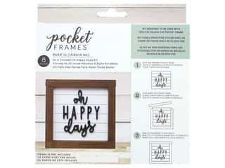 American Crafts Details 2 Enjoy Pocket Frames DIY 6 in. x 5.5 in. Oh Happy Day