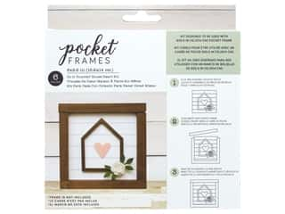 American Crafts Details 2 Enjoy Pocket Frames DIY 6 in. x 5.5 in. House Heart
