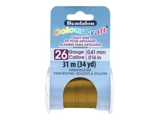 Beadalon ColourCraft Tarnish Resistant Copper Wire Tarnish Resistant 26 ga Vintage Bronze 34 yd