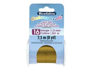 craft & hobbies: Beadalon ColourCraft Tarnish Resistant Copper Wire Tarnish Resistant 16 ga Vintage Bronze 8 yd