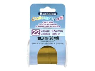 Beadalon ColourCraft Wire - 22 ga Vintage Bronze 20 yd.