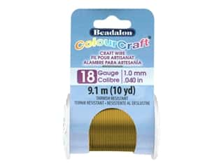 Beadalon ColourCraft Tarnish Resistant Copper Wire Tarnish Resistant 18 ga Vintage Bronze 10 yd