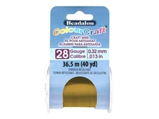 Beadalon ColourCraft Tarnish Resistant Copper Wire Tarnish Resistant 28 ga Vintage Bronze 40 yd