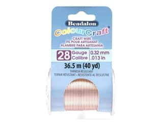 craft & hobbies: Beadalon ColourCraft Tarnish Resistant Copper Wire Tarnish Resistant 28 ga Rose Gold 40 yd