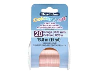 Beadalon ColourCraft Tarnish Resistant Copper Wire Tarnish Resistant 20 ga Rose Gold 15 yd