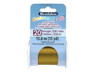 Beadalon ColourCraft Tarnish Resistant Copper Wire Tarnish Resistant 20 ga Vintage Bronze 15 yd