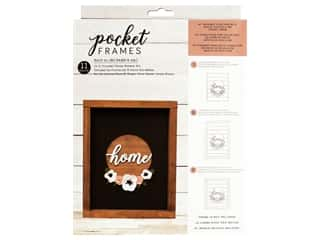 American Crafts Collection Details 2 Enjoy Pocket Frames DIY 8 in. x 10 in. Home Wreath Kit