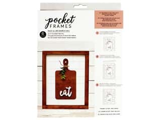 American Crafts Collection Details 2 Enjoy Pocket Frames DIY 8 in. x 10 in. Eat Kit