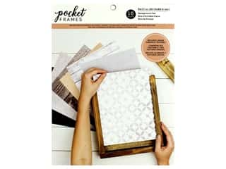 American Crafts Collection Details 2 Enjoy Pocket Frames Background Pad 8 in. x 10 in.