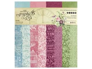scrapbooking & paper crafts: Graphic 45 Collection Bloom Paper Pad 12 in. x 12 in. Solid/Pattern