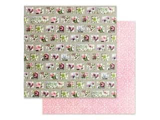 Graphic 45 Collection Bloom Paper 12 in. x 12 in. Petal Postage (25 pieces)
