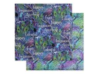 scrapbooking & paper crafts: Graphic 45 Collection Kaleidoscope Paper 12 in. x 12 in. Joy In The Journey (25 pieces)