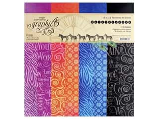 scrapbooking & paper crafts: Graphic 45 Collection Kaleidoscope Paper Pad 12 in. x 12 in. Solid/Pattern