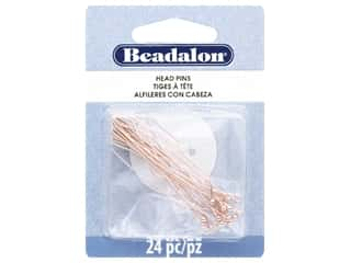 Beadalon Head Pins Ball Medium Rose Gold 24 pc (3 pieces)
