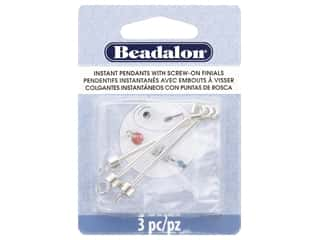 beading & jewelry making supplies: Beadalon Findings Instant Pendant Cylinder 36.6 mm x 1.6 mm Silver