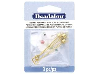 beading & jewelry making supplies: Beadalon Findings Instant Pendant Cylinder 36.6 mm x 1.6 mm Gold