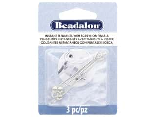 beading & jewelry making supplies: Beadalon Findings Instant Pendant Round 36.6 mm x 1.6 mm Silver