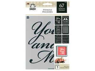 Plaid Stencil FolkArt 6 in. x 7.75 in. Value Pack Romance 6 pc