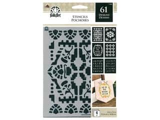 craft & hobbies: Plaid FolkArt Craft Stencils Value Packs - Boho Ornamental