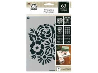 craft & hobbies: Plaid FolkArt Craft Stencils Value Packs - Floral Tradition