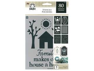 craft & hobbies: Plaid FolkArt Craft Stencils Value Packs - Farmhouse