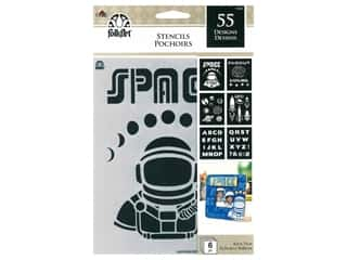 craft & hobbies: Plaid FolkArt Craft Stencils Value Packs - Space