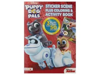 Bendon Coloring Sticker Scene Book Disney Puppy Dog