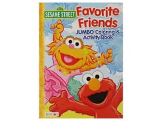 Bendon Jumbo Coloring & Activity Sesame Street Favorite Friends Book