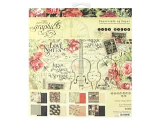 scrapbooking & paper crafts: Graphic 45 Collection Love Notes Paper Pad 8 in. x 8 in.