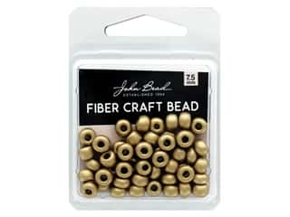 John Bead Fiber Craft Beads 7.5 mm Opaque Gold