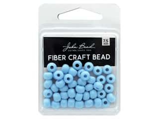 craft & hobbies: John Bead Fiber Craft Beads 7.5 mm Opaque Light Blue