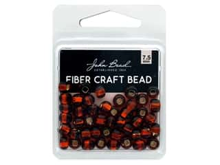 craft & hobbies: John Bead Fiber Craft Beads 7.5 mm Transparent Topaz Silver Lined