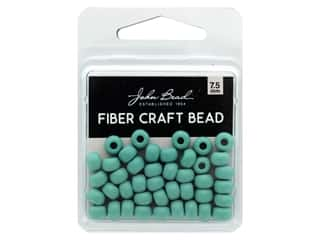 twine: John Bead Fiber Craft Beads 7.5 mm Opaque Turquoise Green