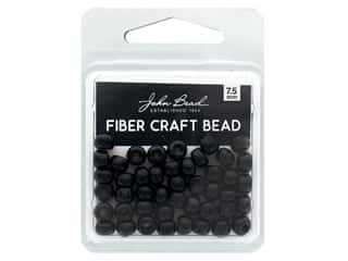 John Bead Fiber Craft Beads 7.5 mm Opaque Black