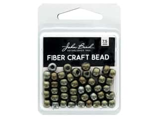 twine: John Bead Fiber Craft Beads 7.5 mm Opaque Brown Iris