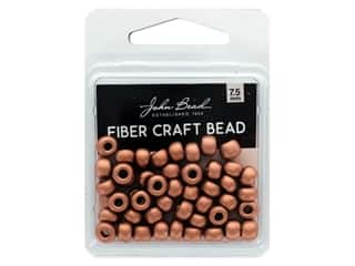 craft & hobbies: John Bead Fiber Craft Beads 7.5 mm Metallic Light Copper