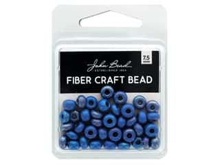 John Bead Fiber Craft Beads 7.5 mm Opaque Medium Blue AB