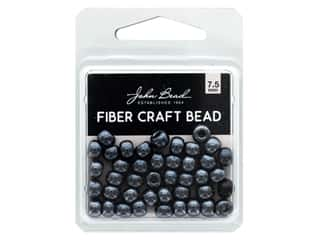 John Bead Fiber Craft Beads 7.5 mm Metallic Gunmetal